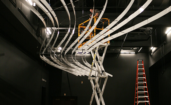 Cinnabar built the canopy for Becoming Los Angeles exhibit at NHM.